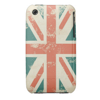 grungy UK flag iPhone 3 case