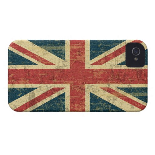 Grungy Union Jack Case-Mate iPhone 4 Case
