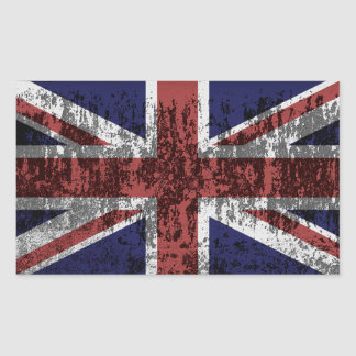 Grungy Union Jack Flag Stickers