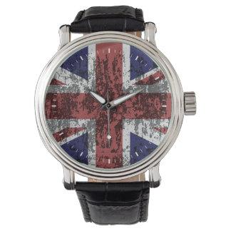 Grungy Union Jack Flag Watch
