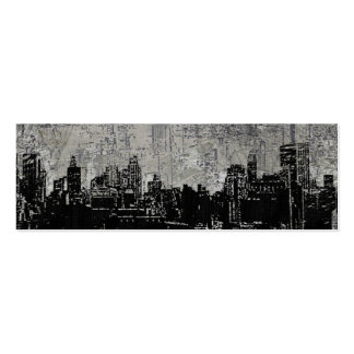 Grungy Urban City Scape Black White Business Cards