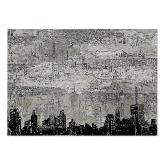 Grungy Urban City Scape Black White Business Card