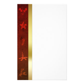 Grungy Vintage Gold Christmas - Stationery