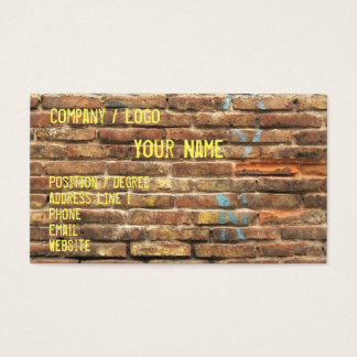 Grungy Wall Business Card