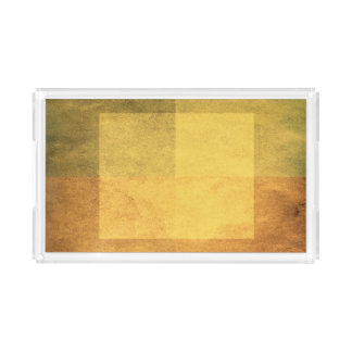 grungy watercolor-like graphic abstract 2 acrylic tray