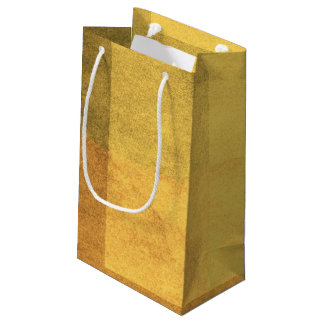 grungy watercolor-like graphic abstract 2 small gift bag