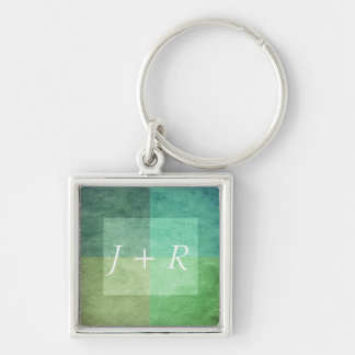 grungy watercolor-like graphic abstract 3 key ring