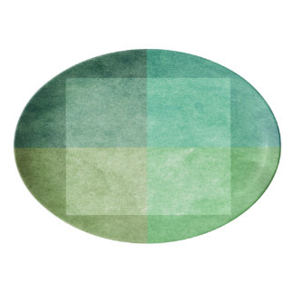 grungy watercolor-like graphic abstract 3 porcelain serving platter