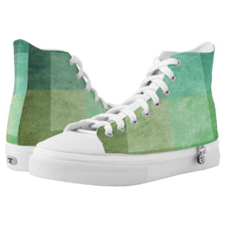 grungy watercolor-like graphic abstract 3 printed shoes