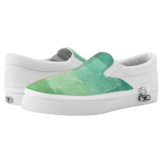 grungy watercolor-like graphic abstract 3 slip on shoes