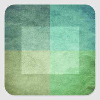 grungy watercolor-like graphic abstract 3 square sticker