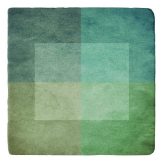 grungy watercolor-like graphic abstract 3 trivet