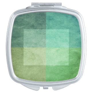 grungy watercolor-like graphic abstract 3 vanity mirror