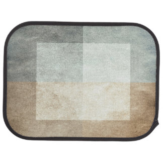 grungy watercolor-like graphic abstract car mat