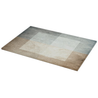 grungy watercolor-like graphic abstract cutting board