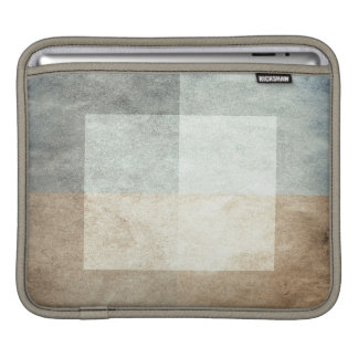 grungy watercolor-like graphic abstract iPad sleeve