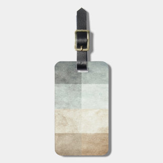 grungy watercolor-like graphic abstract luggage tag