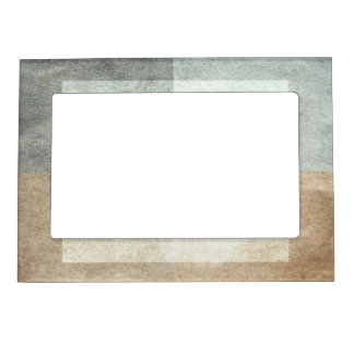 grungy watercolor-like graphic abstract magnetic picture frame