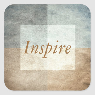 grungy watercolor-like graphic abstract square sticker