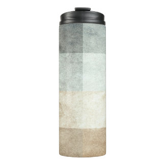 grungy watercolor-like graphic abstract thermal tumbler