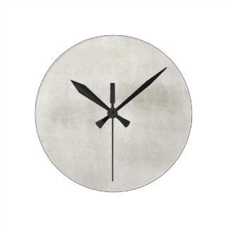 Grungy White Background Clock