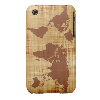 Grungy World Map Textured Case-Mate iPhone 3 Cases
