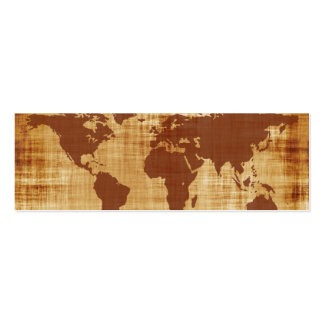 Grungy World Map Textured Pack Of Skinny Business Cards