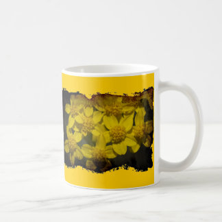 Grungy Yellow Wildflowers Coffee Mug