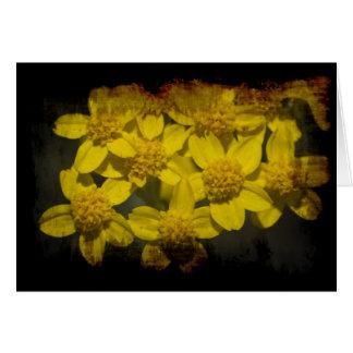 Grungy Yellow Wildflowers Valentine's Card