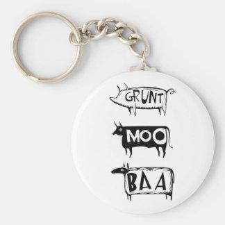 Grunt Moo Baa Keychain