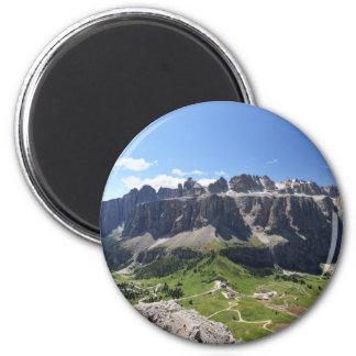 Gruppo Sella and passo Gardena 6 Cm Round Magnet