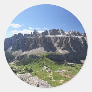 Gruppo Sella and passo Gardena Round Sticker
