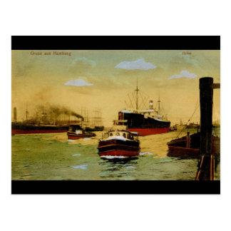 Gruss aus Hamburg Hafen Vintage Postcard