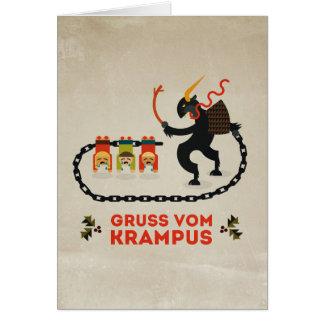 Gruss com Krampus Greeting Card