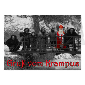 Gruss vom Krampus - B&W Card