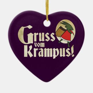 Gruss Vom Krampus Ceramic Heart Decoration