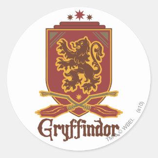 Gryffindor Quidditch Badge Round Sticker