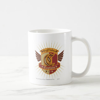 Gryffindor Quidditch Captain Emblem Basic White Mug
