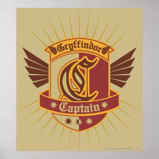 Gryffindor Quidditch Captain Emblem Poster