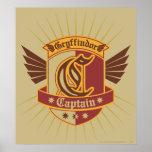 Gryffindor Quidditch Captain Emblem Posters