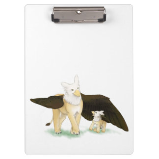 Gryphon and baby clip board