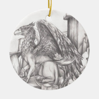 gryphon.jpg round ceramic decoration