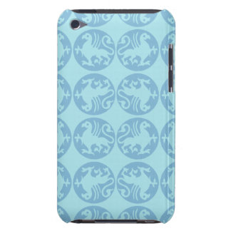 Gryphon Silhouette Pattern - Light Blue Barely There iPod Case