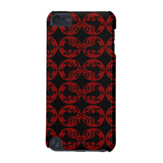 Gryphon Silhouette Pattern - Red and Black iPod Touch 5G Covers