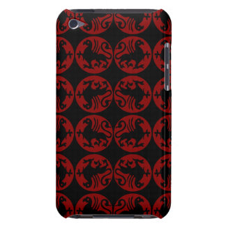 Gryphon Silhouette Pattern - Red and Black iPod Touch Case