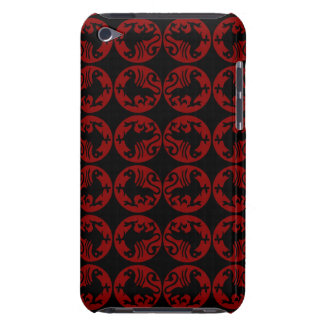 Gryphon Silhouette Pern - Red and Black iPod Touch Cover