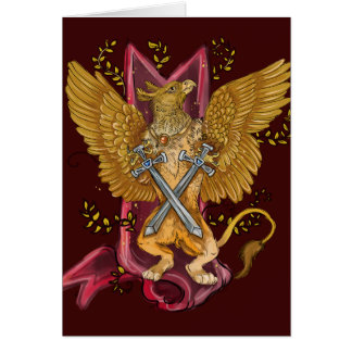 Gryphon with swords~greeting cards