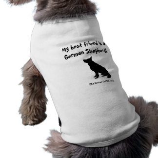 GSD best friend t-shirt for little dogs Sleeveless Dog Shirt