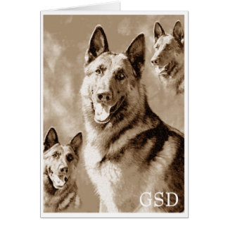 GSD Defined Greeting Card