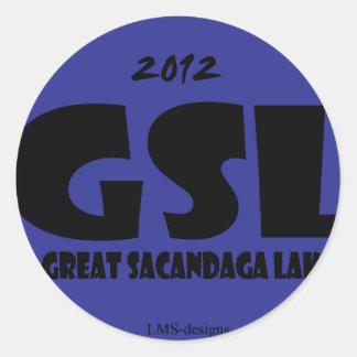 GSL Blue D Round Sticker